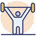 dumbbell, fitness exercise, gym time, sports time, weightlifting icon