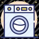 electric washer, laundry, washer dryer, washing clothes, washing machine icon