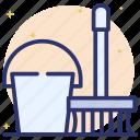 broom, broomstick, cleaning broom, housekeeping, mop icon