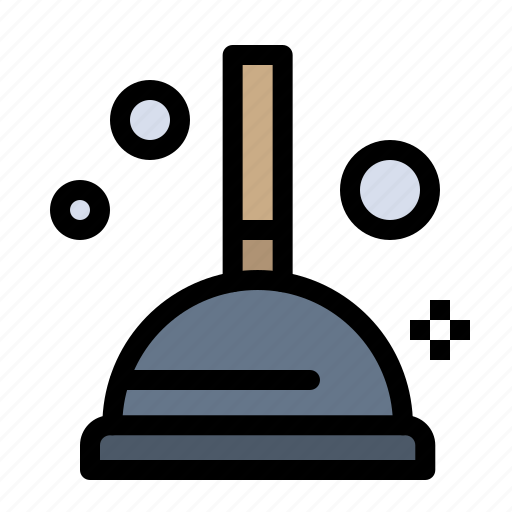 cleaning, improvement, plunger icon