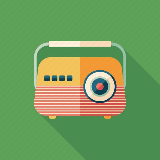 audio, device, radio, receiver, recorder, retro, sound icon