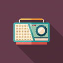 audio, device, radio, recorder, retro, tape, vintage icon