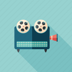 device, film, projector, receiver, recorder, retro, video icon