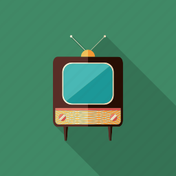 antennas, receiver, retro, shows, televisual, tv, video icon