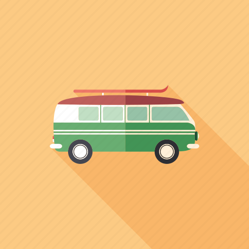 car, minivan, old, retro, transport, travel, wagon icon