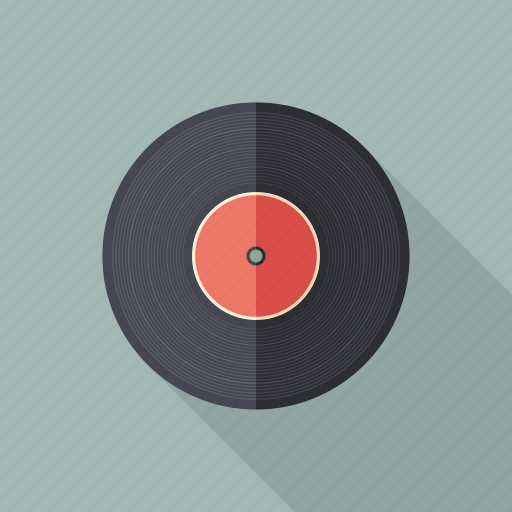 audio, disc, music, record, retro, vintage, vinyl icon