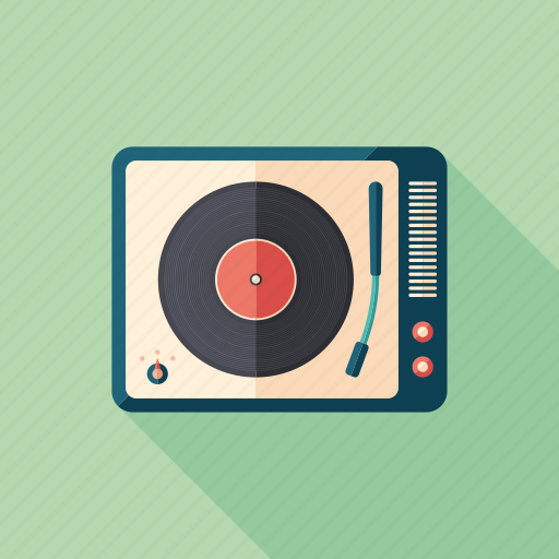 audio, music, player, record, retro, turntable, vinyl icon