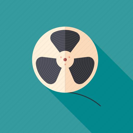 classic, film, movie, reel, retro, video, vintage icon