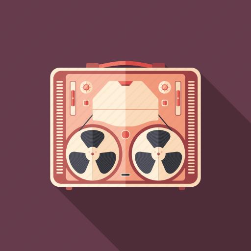 classic, film, movie, recorder, retro, tape, vintage icon
