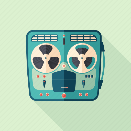 classic, film, receiver, recorder, retro, tape, vintage icon