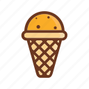 cone, cream, food, ice, ice cream, sweet icon