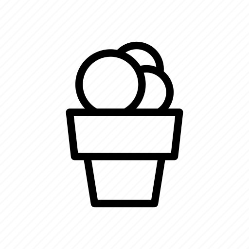 Cream, dessert, food, frozen, ice, ice cream, icecream icon - Download on Iconfinder