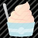 cup, dessert, food, frozen, ice cream, yogurt