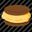 dessert, food, frozen, ice cream, sandwich icon