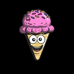 cartoon, cone, cream, emoji, ice icon