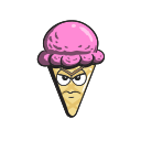 cartoon, cone, cream, emoji, ice icon