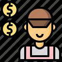 clerk, customer, manager, poeple, salesman, service, worker icon