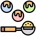 and, dipper, food, kitchen, restaurant, scoop, tools icon