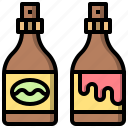 and, chocolate, dessert, food, honey, restaurant, syrup icon