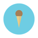 chocolate, cone, cream, dessert, ice icon