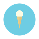 cone, cream, dessert, ice, vanilla icon