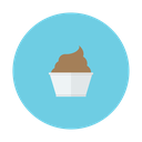 chocolate, cream, cup, dessert, ice icon