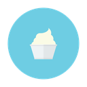 dessert, vanilla, cream, ice, cup icon
