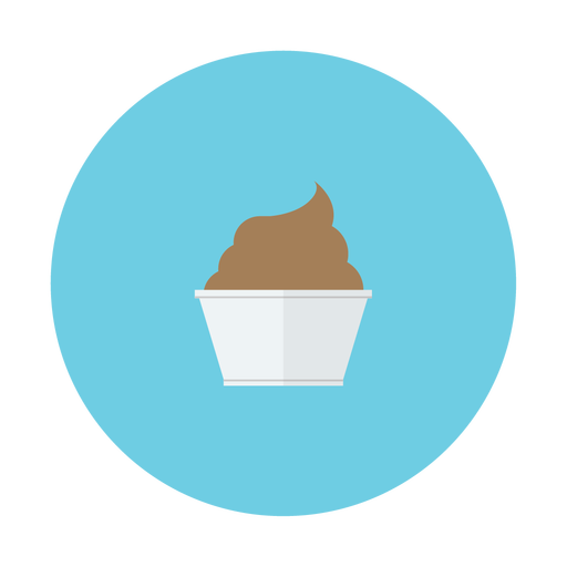 chocolate, cream, cup, dessert, ice icon