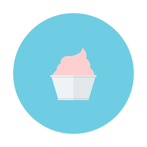 cream, cup, dessert, ice, strawberry icon