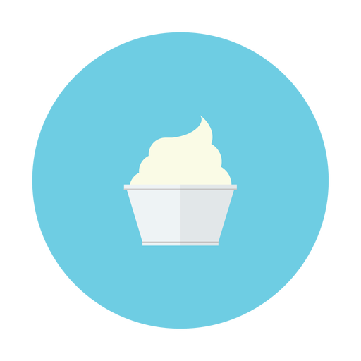 cream, cup, dessert, ice, vanilla icon