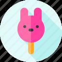 food, ice cream, ice pop, rabbit, summer, sweets icon