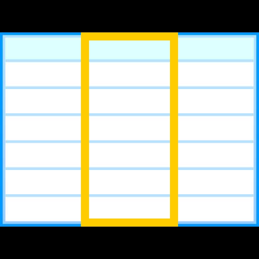 column, table icon