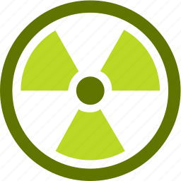 abstraction, ecology, radiation, waste icon