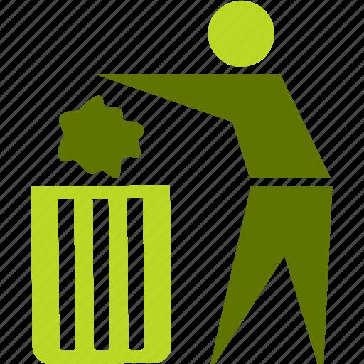 environment, garbage, people, trash icon
