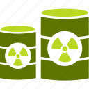 barrel, industry, radiation, trash icon