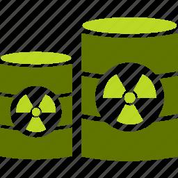 barrel, industry, radiation, trash icon
