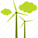 ecology, electricity, heat, wind icon