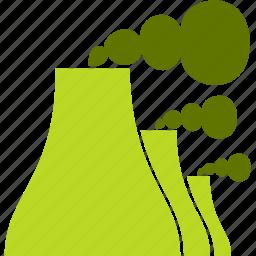 coal, electricity, heat, power plant icon