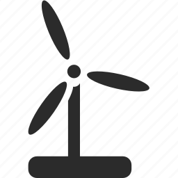 ecology, electricity, wind energy icon