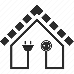 building, ecology, electricity, energy, home, house, light icon