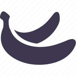 banana, food, fruit, meal, nature, plant, vitamin icon