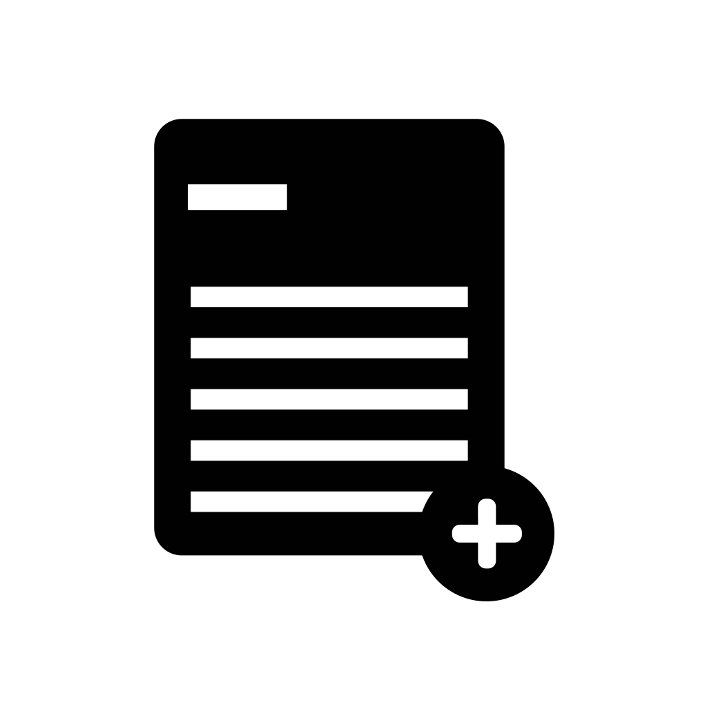 add, document, file, new, page, paper icon