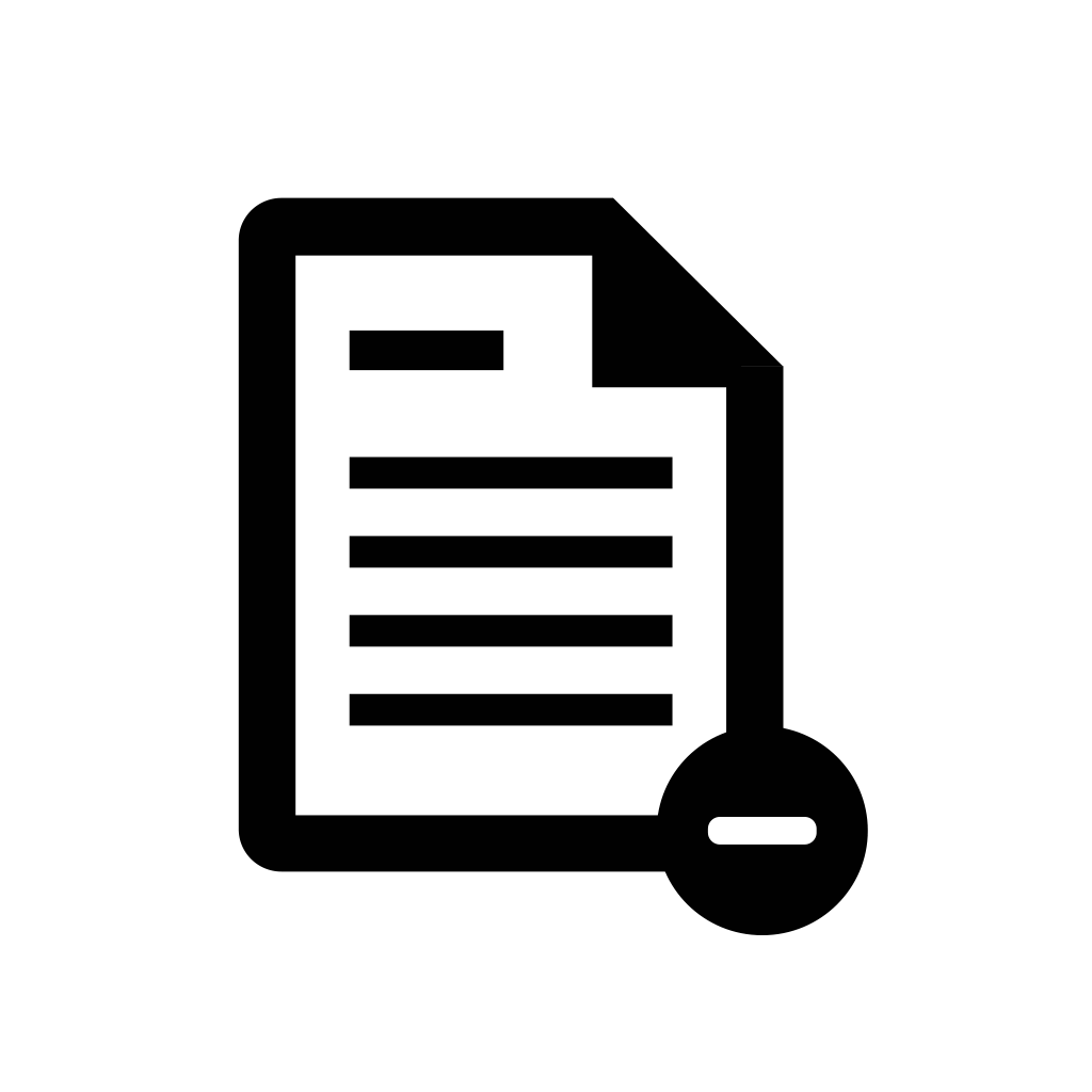 delete, document, file, page, paper icon