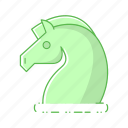 digital, horse, strategy icon