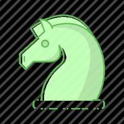 digital, horse, strategy icon