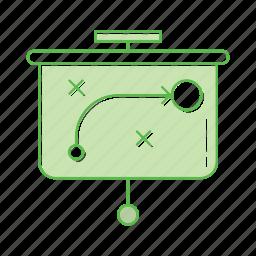 development, digital, strategy icon