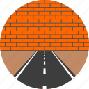 asphalt, brick, highway, road, wall, way icon