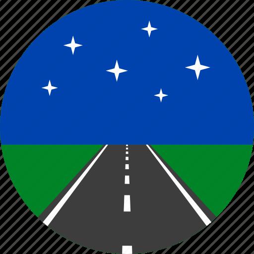 asphalt, highway, horizon, night, road, stars, way icon
