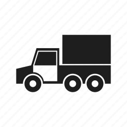 car, childhood, children's, kids, silhouette, toy, truck icon