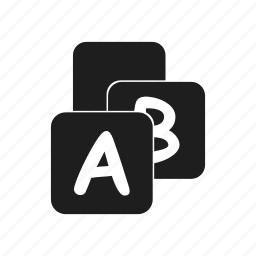 alphabet, childhood, children's, cube, kids, letter, toy icon